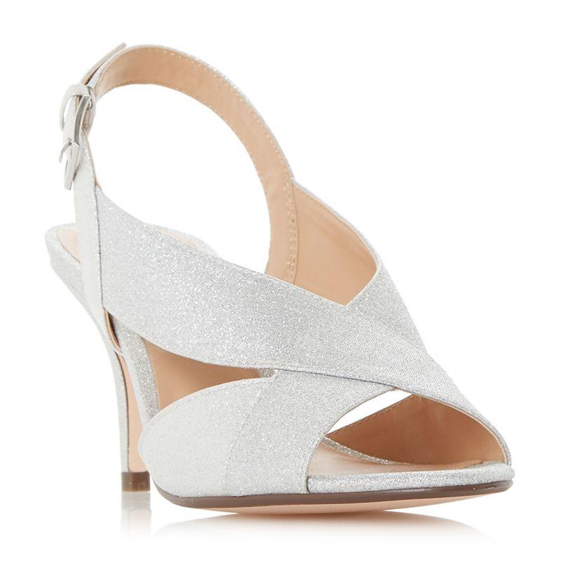 Roland Cartier - Silver Matilda Mid Kitten Heel Court Shoes