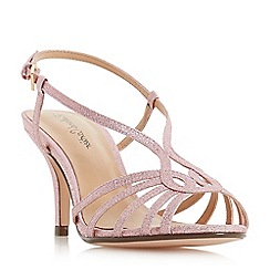 Roland Cartier - Pink 'Millah' mid stiletto heel ankle strap sandals