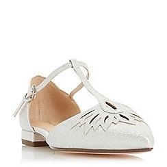 Roland Cartier - Silver 'Dandilion' t-bar sandals