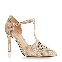 Roland Cartier - Gold 'Denira' high stiletto heel court shoes