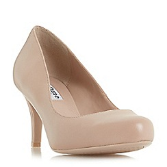 Dune - Natural leather 'Amelia' mid stiletto heel court shoes