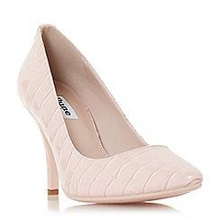 Dune - Light pink 'Aeryn' mid stiletto heel court shoes