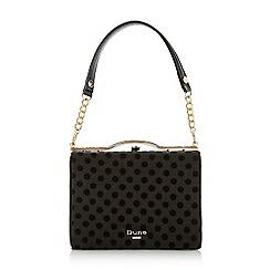 Dune - Black 'Blaura' mesh spotty frame handbag