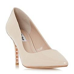 Dune - Natural 'Aurrora' mid stiletto heel court shoes