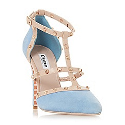 Dune - Blue suede 'Daenerys' high stiletto heel court shoes