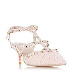 Dune - Light pink 'Casterly' mid kitten heel court shoes