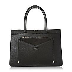 Dune - Black 'Daran' large top handle tote bag