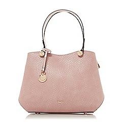Dune - Light pink 'Dimogen' large double compartment shoulder bag