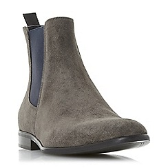 Dune - Grey 'Malcom' smart Chelsea boots