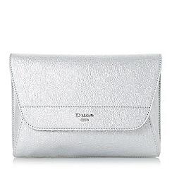 Dune - Silver 'Ellanaa' double fold over clutch bag