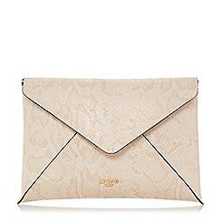 Dune - Natural 'Enria' envelope clutch bag