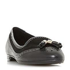 Dune - Black leather 'Gambie' loafers