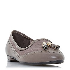 Dune - Grey leather 'Gambie' loafers