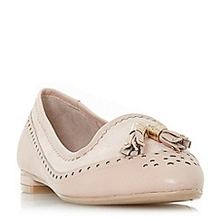 Dune - Light pink leather 'Gambie' loafers