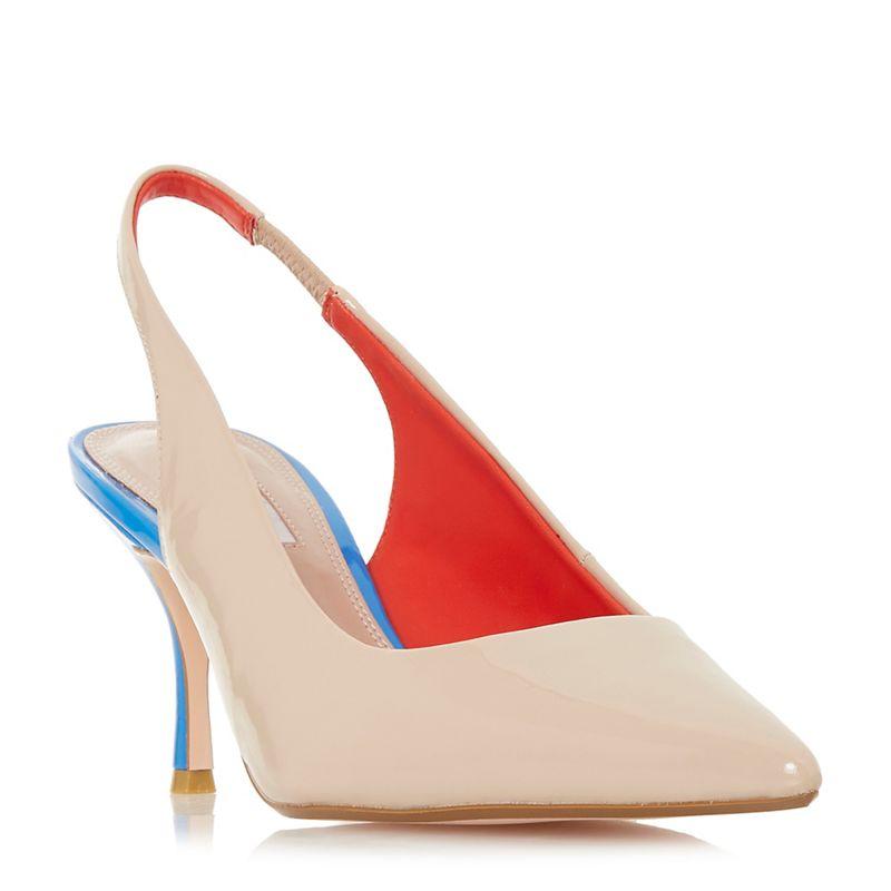 Dune - Natural Cherubb Stiletto Heel Court Shoes