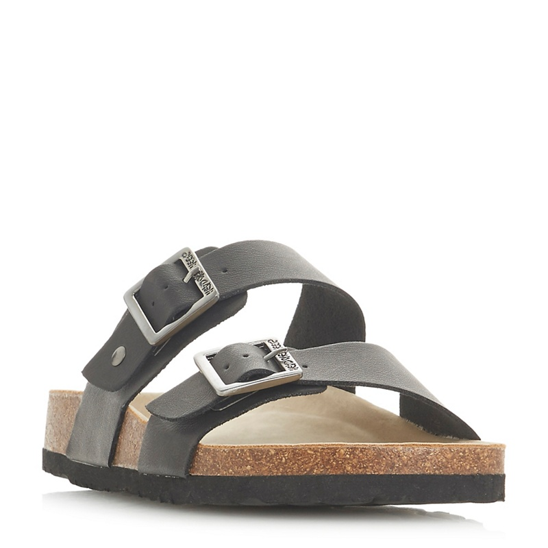 bd0193f43b0 Head Over Heels by Dune - Black  Lasso  Ankle Strap Sandals