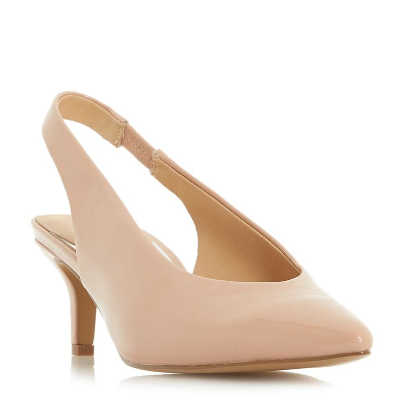 Head Over Heels by Dune - Natural Cherry Kitten Heel Court