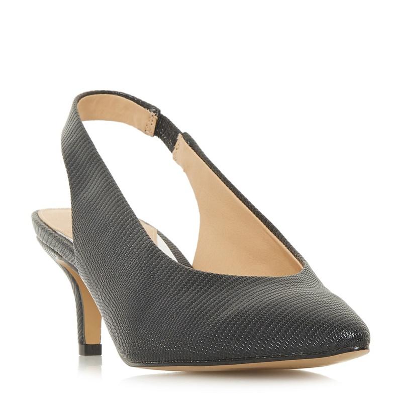 8fd999b04ed Head Over Heels by Dune - Black  Cherry  Kitten Heel Court Shoes ...