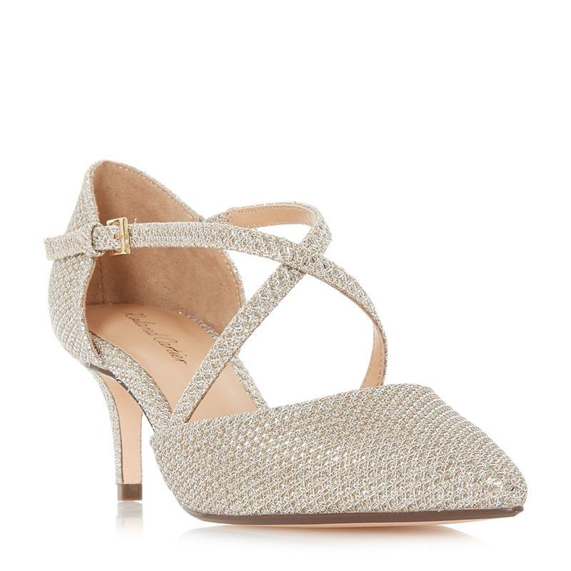 Roland Cartier - Gold Patent Doffy Kitten Heel Court Shoes