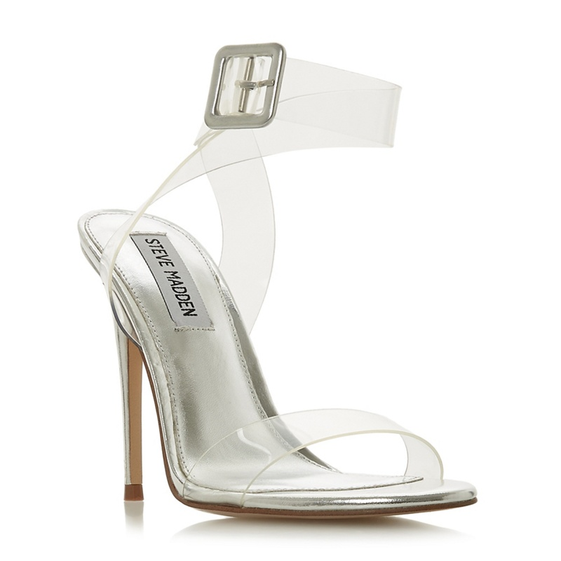 bb7c6be11f4 Steve Madden - Silver  Seeme Steve Madden  High Stiletto Heel Ankle Strap  Sandals