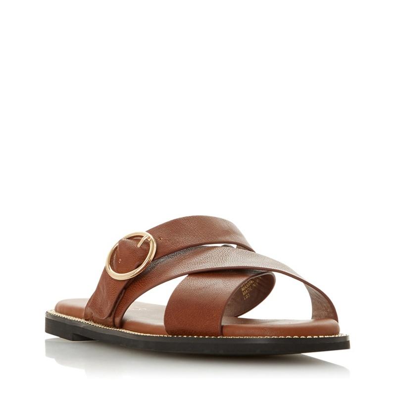 91fe0351c Head Over Heels by Dune - Tan  Logen  Mule Sandals