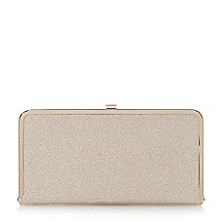 Dune - Gold-lurex 'Brenna' metallic frame clutch bag
