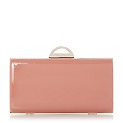 Dune - Neutral semi circle clasp detail clutch bag