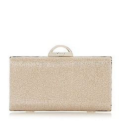 Dune - Metallic lurex hard case clutch bag