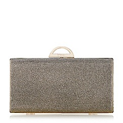 Dune - Metallic hard case clutch bag