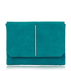 Dune - Blue metallic detail foldover clutch bag