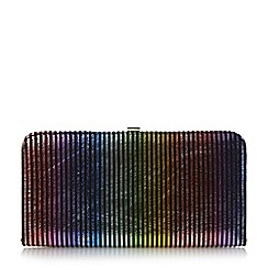 Dune - Multicoloured 'Bloomsbury' multi colour stripped clutch bag