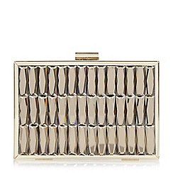 Dune - Gold 'Bowden' gem embellished metal frame clutch bag