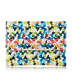 Dune - Multicoloured 'Bexy' bubble print flapover clutch bag