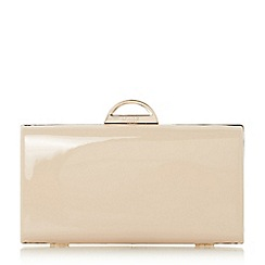 Dune - Natural 'Bekka' metal arc clasp clutch bag