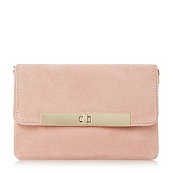 Dune - Pink 'Bliss' flap over turn lock clutch bag