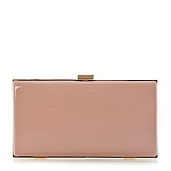 Dune - Pink hard case clutch bag
