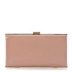 Dune - Pink hard case clutch bag