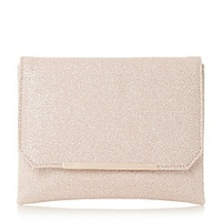 Dune - Gold 'Bidwell' flapover clutch bag