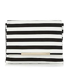 Dune - Multicoloured 'Bennie' stripe detail flap over clutch bag