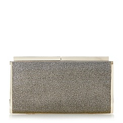 Dune - Bronze 'Brixxton' rectangular hard case clutch bag