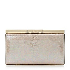 Dune - Pink iridescent frame detail clutch bag
