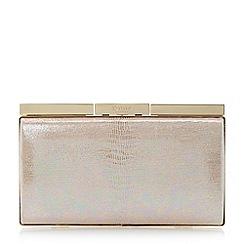 Dune - Pink iridescent frame detail clutch bag