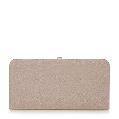 Dune - Pink lurex frame clutch bag