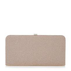 Dune - Pink lurex frame clutch bag
