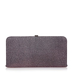 Dune - Purple lurex frame clutch bag
