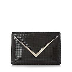 Dune - Black 'Behan' v-trim envelope clutch bag