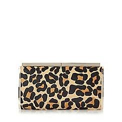 Dune - Multicoloured 'Britney' leopard print hard case clutch bag