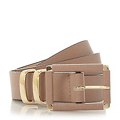Dune - Taupe 'Nadeen' saffiano leather look belt
