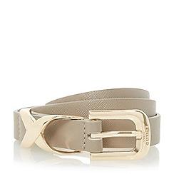 Dune - Grey 'Nalah' metallic reptile print belt