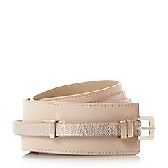 Dune - Cream 'Ninaa' double profile belt